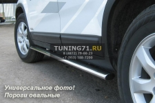 HONDA CR-V Пороги труба d75х42 овал HCO-000192